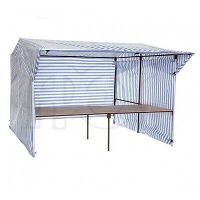 Walk In Market Stall with Front Counter 3.7m x 3.0m Market Trade Stand Full Kit