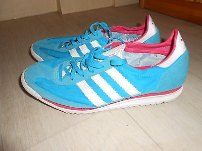 Ladies blue Adidas Trainers / Running Shoes - Size 6 - Good Condition