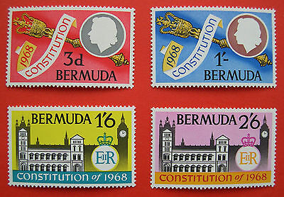 Bermuda 1968 Constitution Stamps Set of 4 MNH
