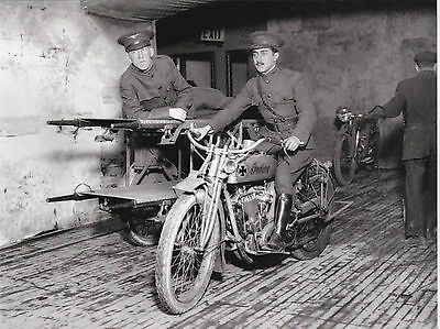 "*Postcard-""Military Motorcycle"" EMT (Carries Patients) -1910's-"