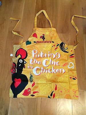 """NEW Nando's  100 %  cotton  apron ~~ """" PUTTING THE CHIC IN CHICKEN"""""""