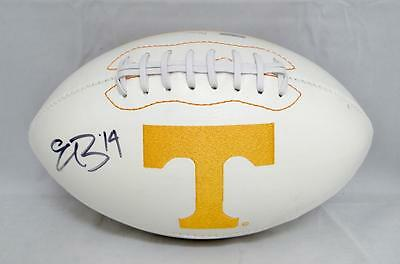 Eric Berry Autographed Tennessee Volunteers Logo Football- JSA Witnessed Auth