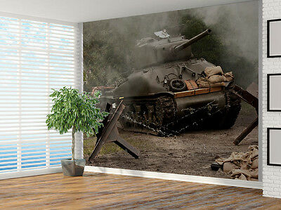 Tank Army Sherman M41A GRIZZLI from WW II photo Wallpaper wall mural (7995383)