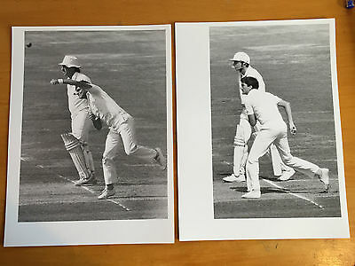 1980s 2 x Nick Cook left arm spinner Ken Kelly Press Photograph vgc