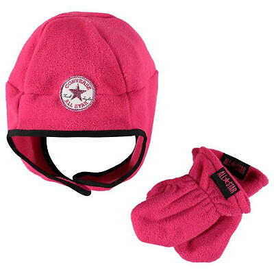 kids converse hat and gloves set size infants