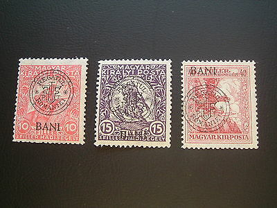 Hungary 1919.  Rumanian occupation of  Kolozsvar. Full set of War Aid III.  MNH.