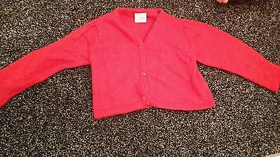 girls red NEXT cardigan age 2-3 years