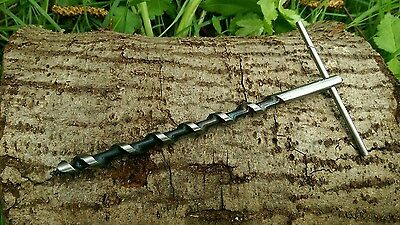 Mini Scotch Eyed T Auger For Bushcraft & Survival Trapping 550 Paracord
