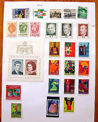 LIECHENSTEIN STAMP SELECTION All Hinged Mint and Used