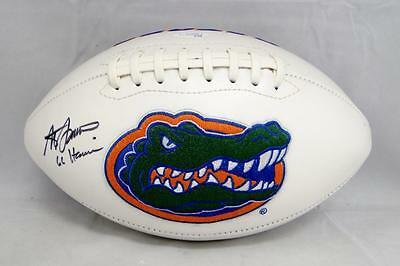 Steve Spurrier Autographed Florida Gators Logo Football With Heisman- JSA Auth
