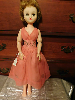 Vintage 1950's Deluxe Reading Candy Fashion Doll in Original Dress,