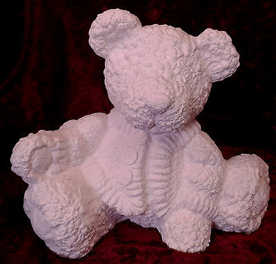 Paint Your Own Ceramic Bisque - Sitting Cardigan Bear - Money Box