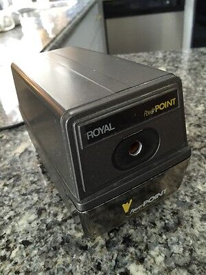 Royal Power Point - Electric Pencil Sharpener Auto Stop #9709-DR 120V