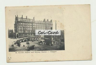 Glasgow - St Enoch's Station and Subway Station (undivided back) (St Enochs)
