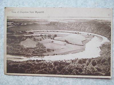 1949 postcard, View of Chepstow from Wyndcliff, landscape, river, trees, fields