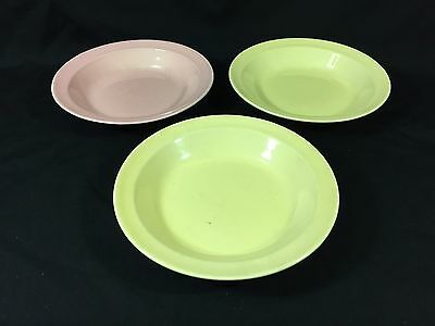 Vintage Lot 3 Yellow Pink Pastels Ts&t Taylor Smith Luray Cereal Bowls 7.75""