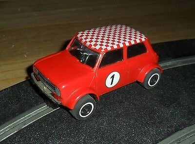 Scalextric rare C122 Mini Clubman 1275 GT rally / touring car # 1 Excellent