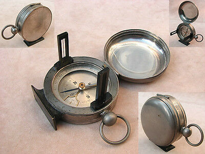 Antique Hunter cased combined  pocket compass & clinometer
