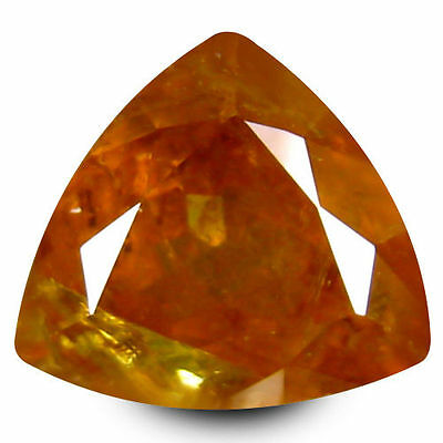 2.390Cts Marvelous Luster Yellow Natural Sphene Trillion Loose Gemstones