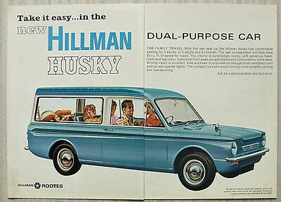 HILLMAN HUSKY Dual Purpose Car Sales Brochure 1967 #2002/H