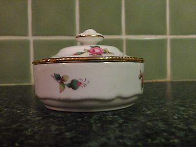 Spode Billingsley Spary Rose Trinket Box