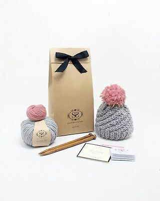 Stitch & Story Luca Pom Hat Beginners' Knitting Kit - New In Package