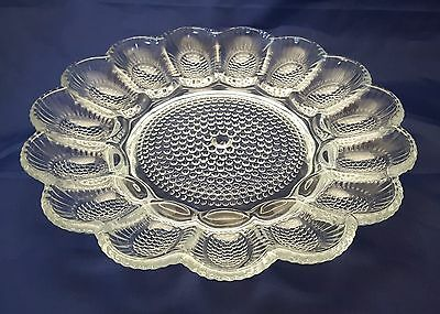 Indiana Glass Egg Plate Relish Tray Clear With Original Box USA Made 11""