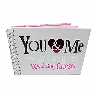 The Bright Side You Me All Our Lovely Wedding Guests Message Book Keepsake Gift