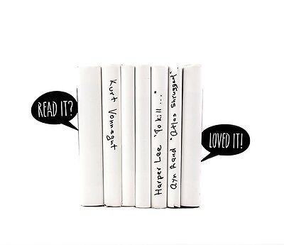 Atelier Article - Gift Steel bookends - Dialogue: Read it? Loved it! (Black)