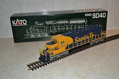 Kato Ho Gauge Scale Emd Sd40 5003 In Santa Fe Livery, Dcc Ready