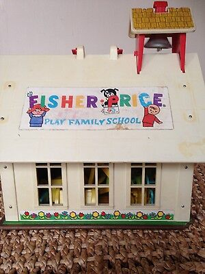 Vintage Fisher Price Play School with accessories