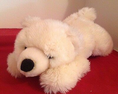 "Sea World White Polar Bear Cub Plush 14"" SUPER SOFT Stuffed Cuddly Animal"