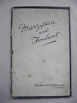 Vintage MARZIPAN & FONDANT Cake And Sweets Booklet c1930s