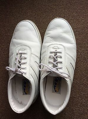 Ladies DEK White Lawn Bowling Shoes Size. 6