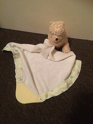 Disney Classic Winnie The Pooh Baby Comfort Blanket With Teether