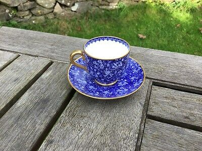 Miniature Blue Chintz Spode Copeland's China Cup & Saucer, R3864