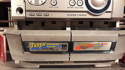 Aiwa NSX DR2 hifi sound system with 3 cd changer and speakers