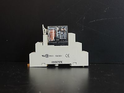 OMRON G2R-1-SND 24VDC RELAY, SPDT, 10A, with holder