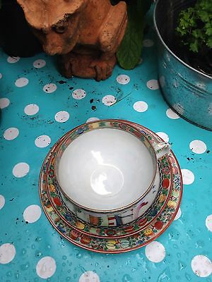 ZPC Hongkong Cup/Saucer Trio.Hand Painted Chinese Landscape Design.Vintage .