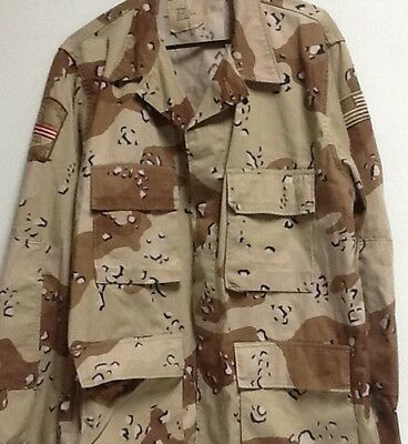Us Army Issue Desert Shield Era Uniform Top With Patches Large Regular