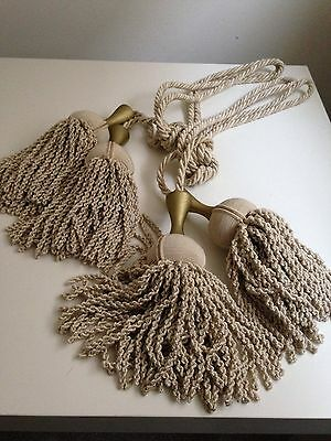 Luxury Pair Of Natural Coloured Rope Tie Backs