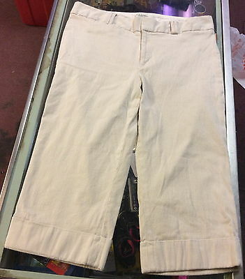 Banana Republic ~ Size 14 ~ Jackson Fit Pants / Capris  w/ Cuffs