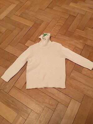 John Lewis Baby Girl Toddler Cream Roll Neck Jumper Top Age 9-12 Months BNWT
