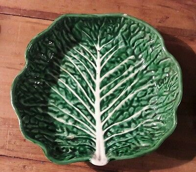 Fabulous Vintage 1960/70 Secla Majolica Cabbage Pottery Salad Bowl/Serving Dish.