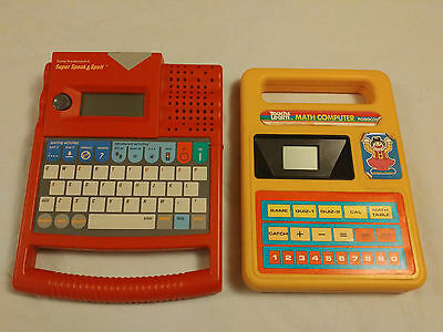 Super Speak and Spell Texas Instruments and Touch and Learn Math Computer