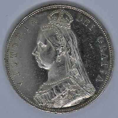 1887 Victoria Halfcrown Great Britain Silver Coin