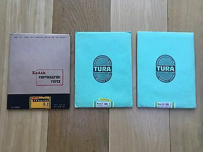 3 X Rare SEALED Vintage Photographic Paper Kodak and Tura