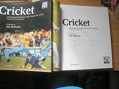 Signed Book-Cricket,celebrating The Game-25 Years Of Nat West Sponsorship