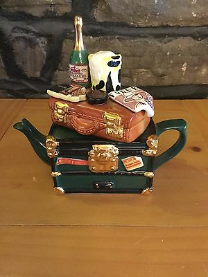 Teapottery Swineside Novelty Collectible Teapot Orient Express Vgc