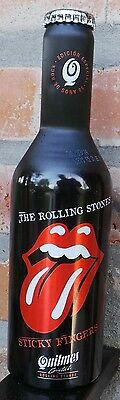 Rolling Stones Sticky Fingers Aluminum Beer Bottle Quilmes From Argentina